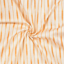 White Peach Ikat Cotton Fabric-11105