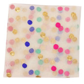 White Pink and Golden Polka Net Fabric-60973