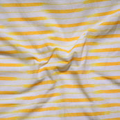 White Yellow Ikat Cotton Fabric-12257