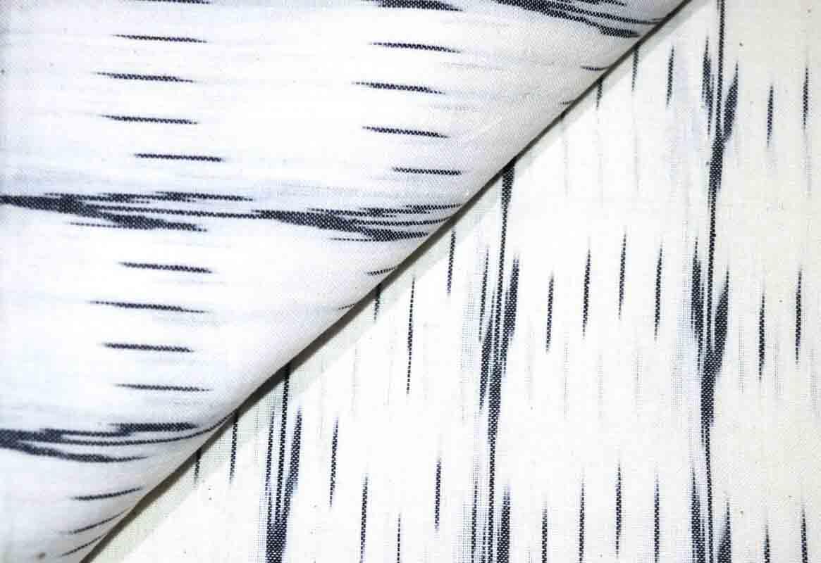 White and Black Ikat Fabric