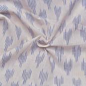 White and Blue Small Lining Pattern Ikat Fabric-12013
