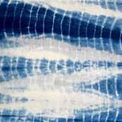 White and Blue Tie Dye Pure Cotton Fabric by the Yard