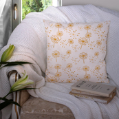 White and Brown Cotton Cushion Cover-35027