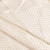 White and Golden Silk Brocade Fabric-8602