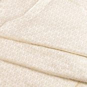 White and Golden Silk Brocade Fabric-8603