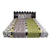 White and Green Rajasthani Cotton Double Bed Sheet-0D5