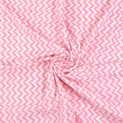 White and Pink Zig Zag Design Cotton Shibori Tie Dye Fabric-14414