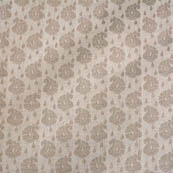 White and Silver paisley pattern silk brocade fabric-4672