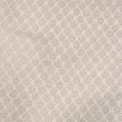 White and silver flower shape brocade silk fabric-4669
