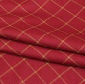 Wine Yellow Checks Wool Fabric-90091