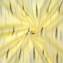 Yellow Black Ikat Cotton Fabric-11135