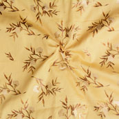 Yellow Cream Floral Jam Cotton Fabric-15139