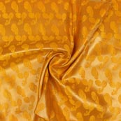 Yellow Golden Music Instrument Brocade Silk Fabric-9341