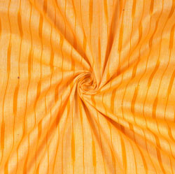Yellow Orange Ikat Cotton Fabric-11107