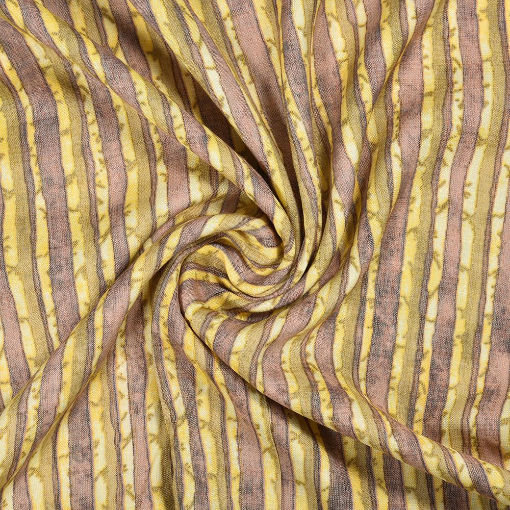 Yellow Purple Tie-Dye Rayon Fabric-16242