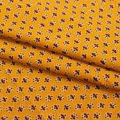 Yellow Red Block Print Cotton Fabric-14829
