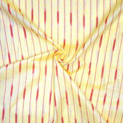 Yellow Red Ikat Cotton Fabric-11175