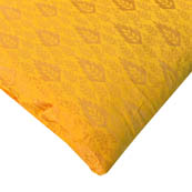 Yellow and Golden Leaf Pattern Brocade Silk Fabric-8187