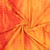 Yellow and Red Cotton Shibori Tie Dye Fabric-14412