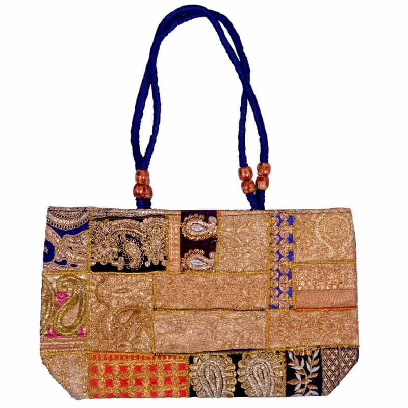 Gold Hand Emboridery Banjara Shoulder Bag