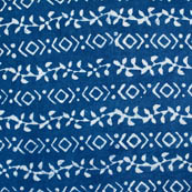 indigo blue and white unique pattern block print fabric-4583
